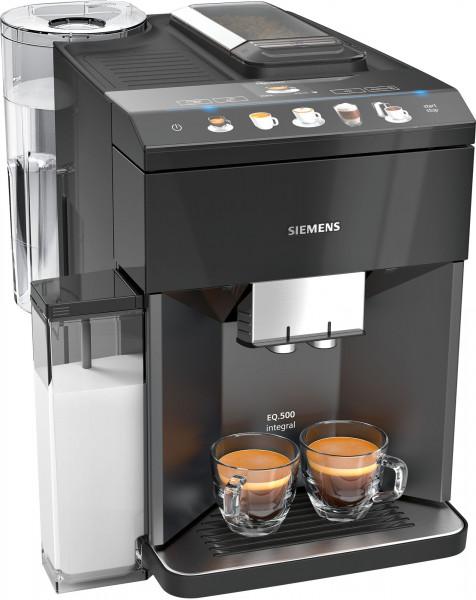 Siemens TQ505DF9 EQ.500 integral Kaffeevollautomat Farbe: saphirschwarz metallic - Ansicht seitlich