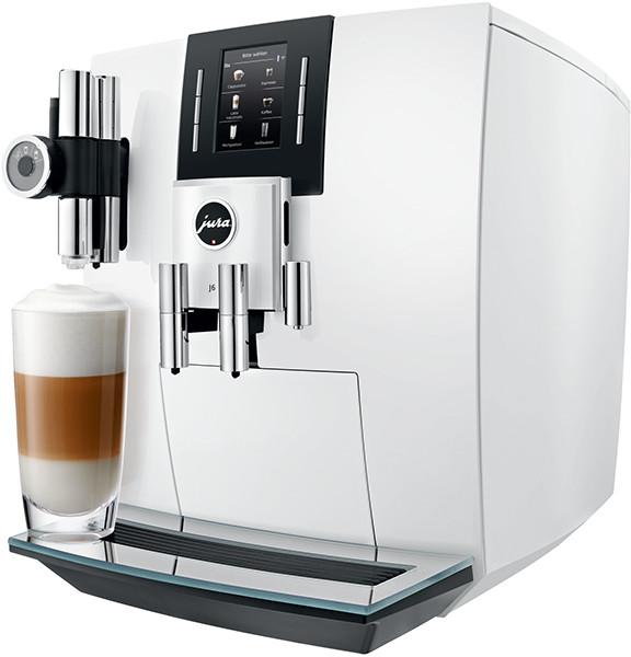 JURA J6 piano white Kaffeevollautomat - Ansicht seitlich
