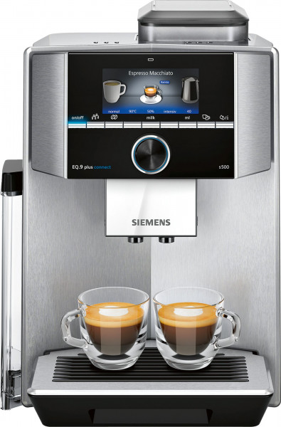 Siemens TI9555X1DE Eq.9 plus connect s500 Kaffeevollautomat Edelstahl - Ansicht vorne