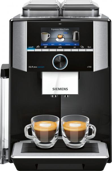 Siemens TI9575X9DE Eq.9 plus connect s700 Kaffeevollautomat Schwarz - Ansicht vorne
